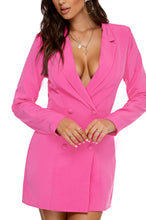 The Power Suit Blazer Dress - Pink