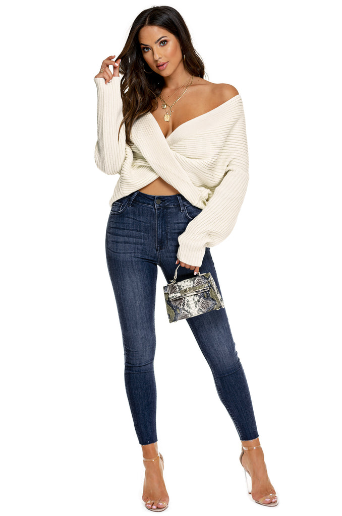 Cuddle With Me Sweater Top - Nude