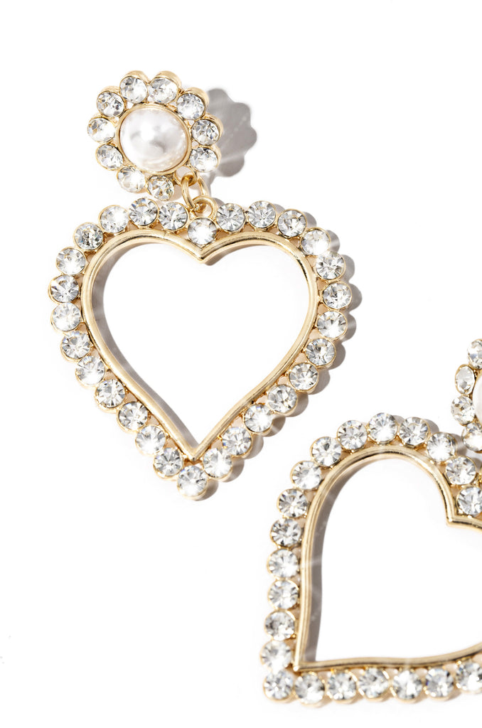 Heart Eyes Earring - Gold