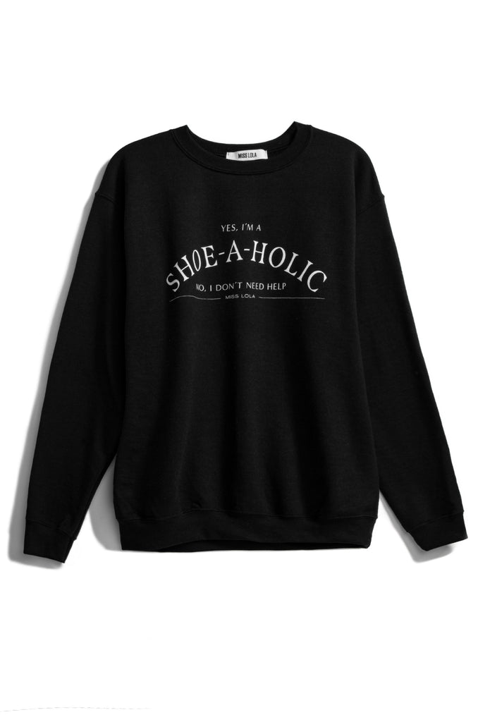 Shoeaholic Crewneck - Black