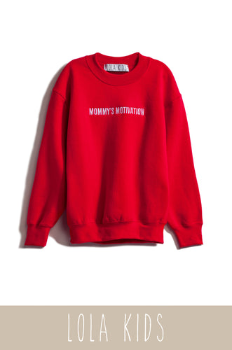 Mommy's Motivation Crewneck - Red