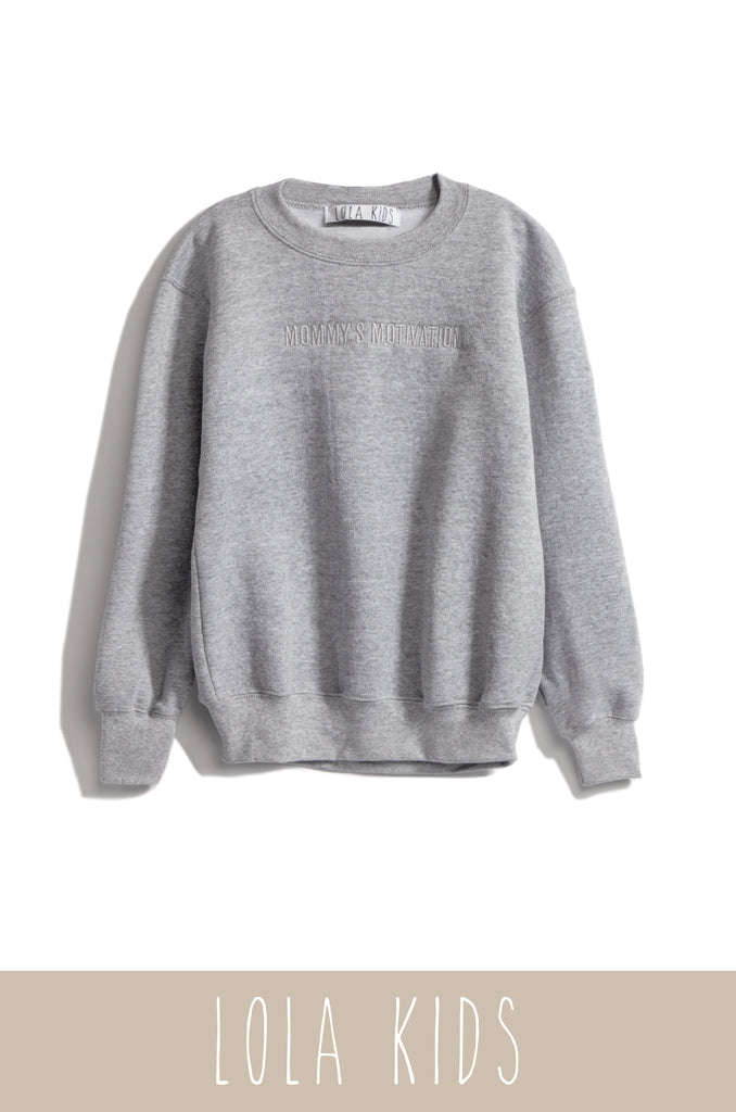 Mommy's Motivation Crewneck - Grey