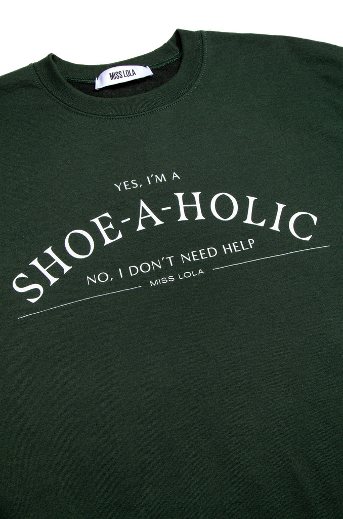 Shoeaholic Crewneck - Emerald