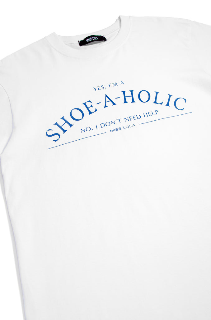 Shoeaholic Tee - White/Blue