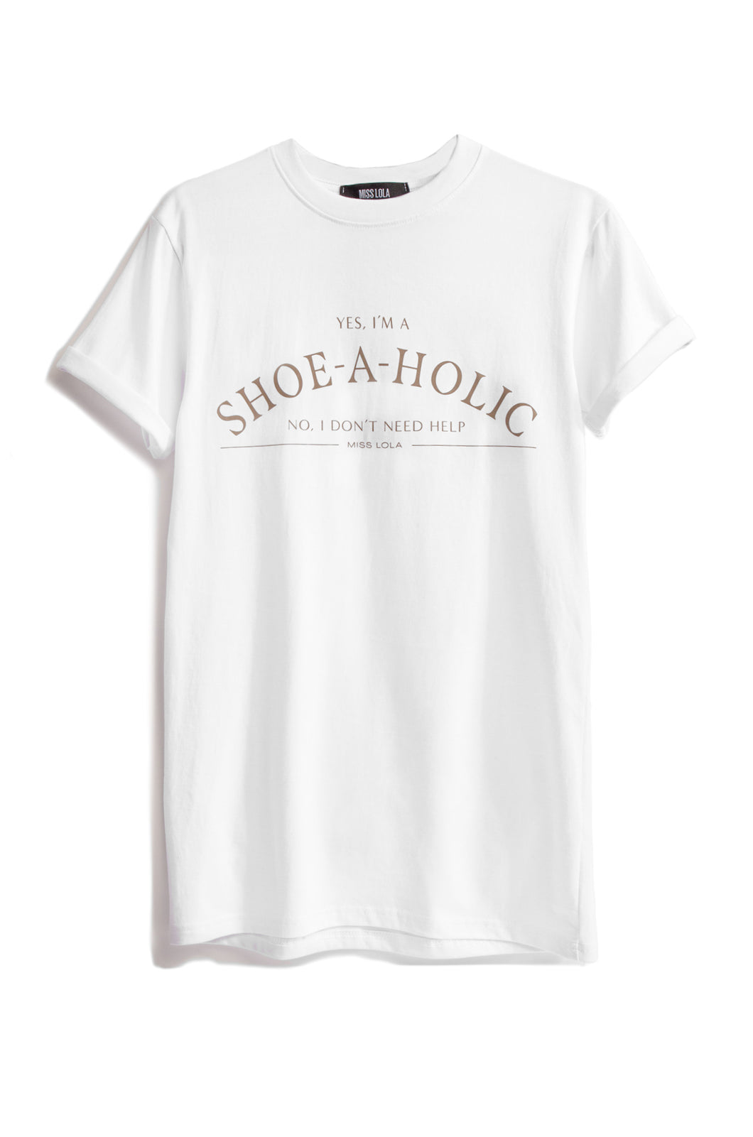 Shoeaholic Tee - White/Nude