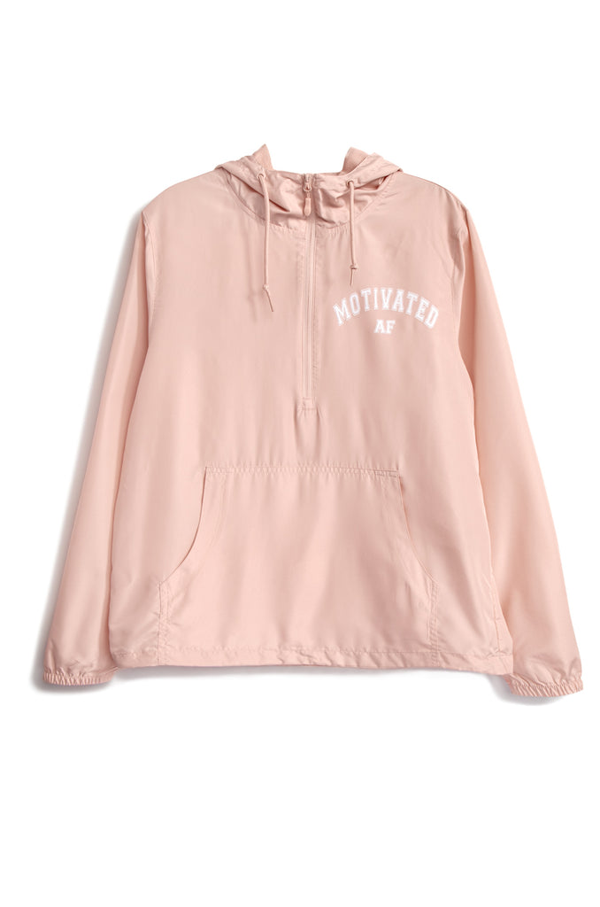 Motivated AF Windbreaker - Pink