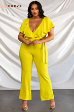 Meet For Drinks Jumpsuit - Yellow