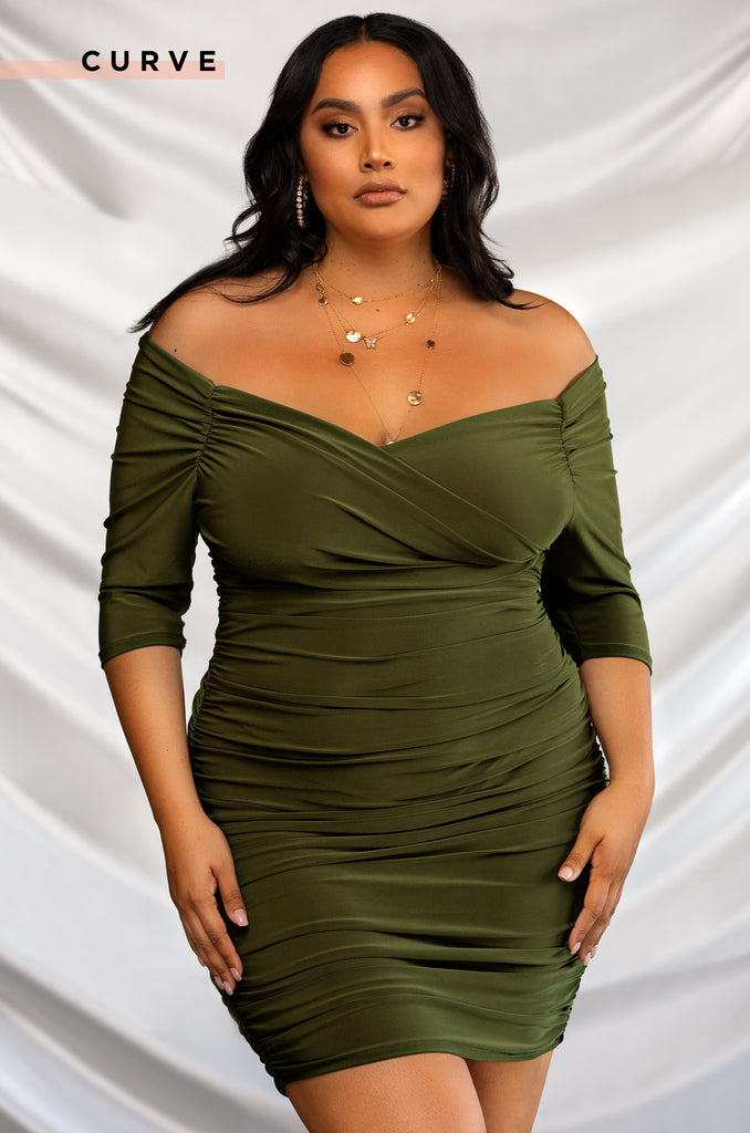 Award Winning Dress - Olive