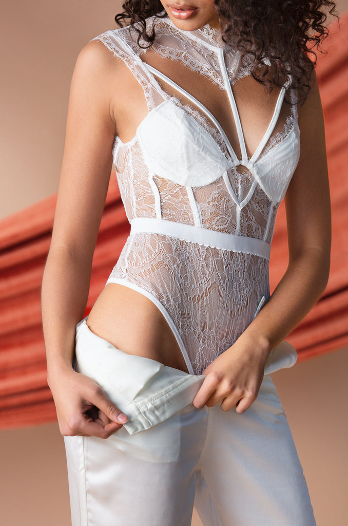 Late Night Bodysuit - White