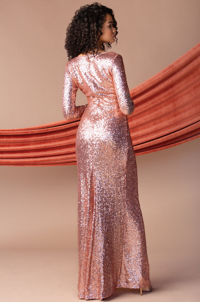 Queen Of Glam Dress - Rose Gold