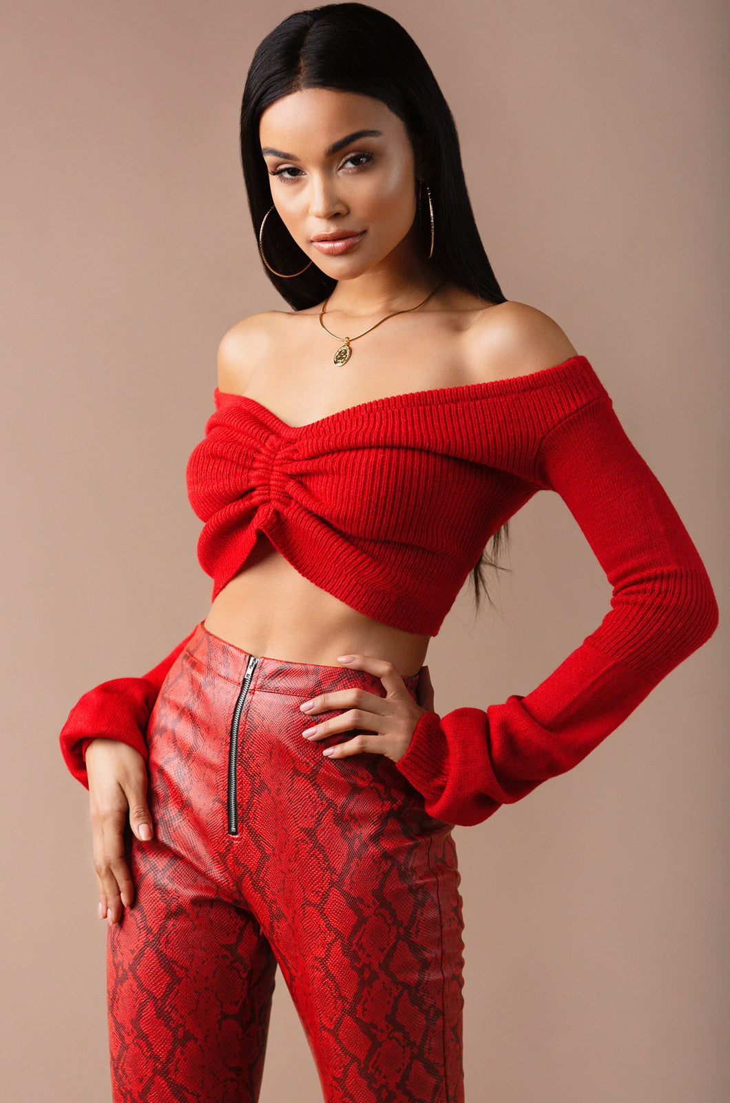 Downtown Babe Sweater - Red