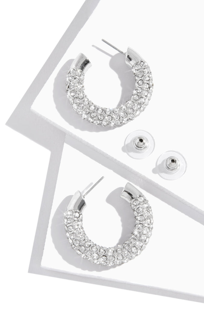 Cheers To The Weekend Earring - Silver