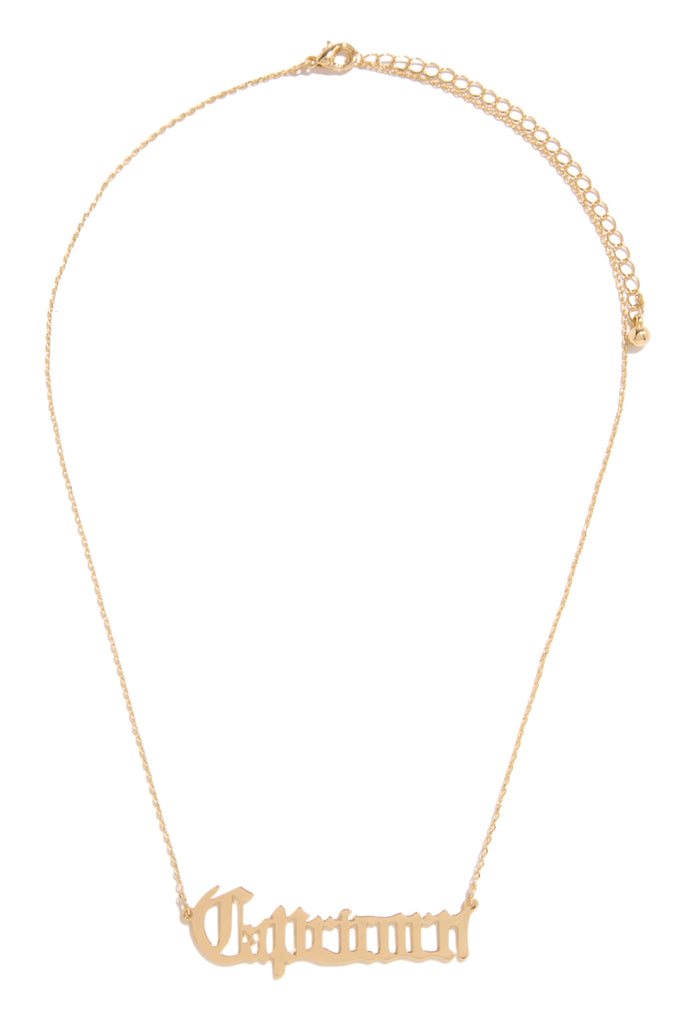 Capricorn Necklace - Gold