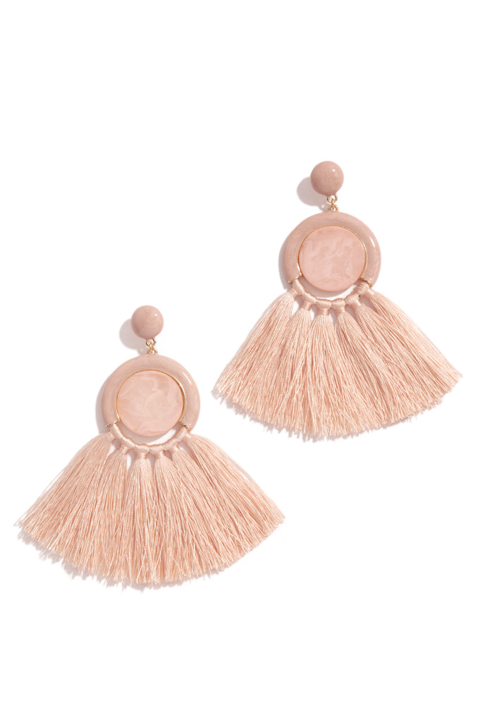Trips To Caicos Earring - Blush