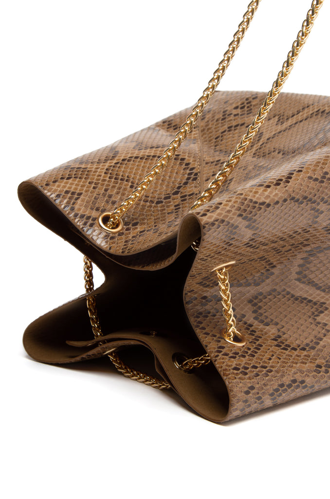 Sweet Sin Couture Bag - Brown Snake
