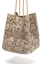 Sweet Sin Couture Bag - Beige Snake