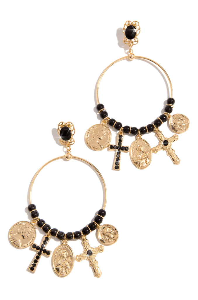 Glorious Moment Earring - Gold/Black
