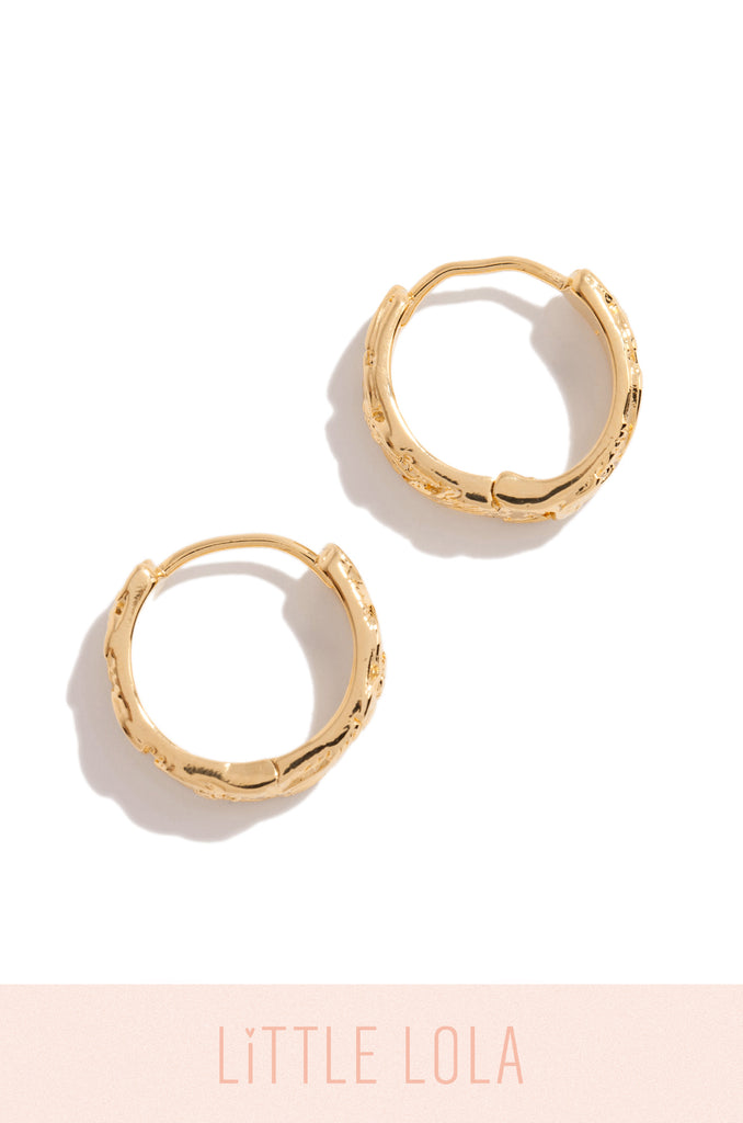 Mini Treasure From Above Earring - Gold