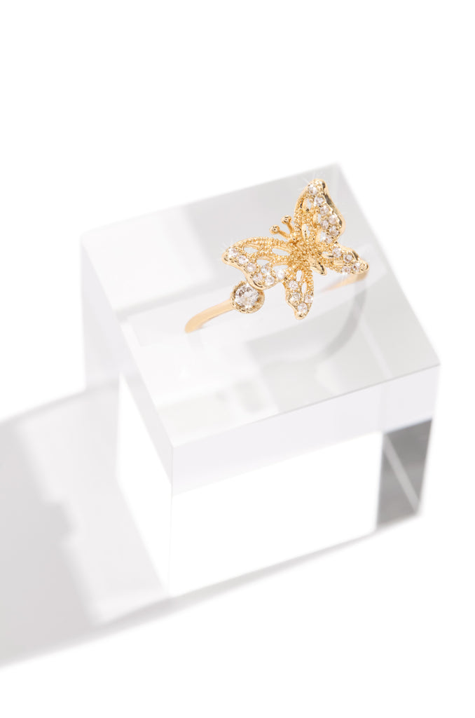 Feeling Butterflies Ring - Gold
