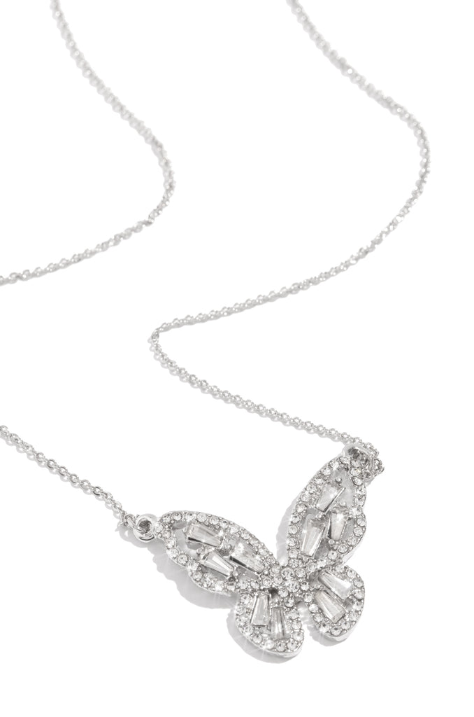 Summertime Fly Necklace - Silver
