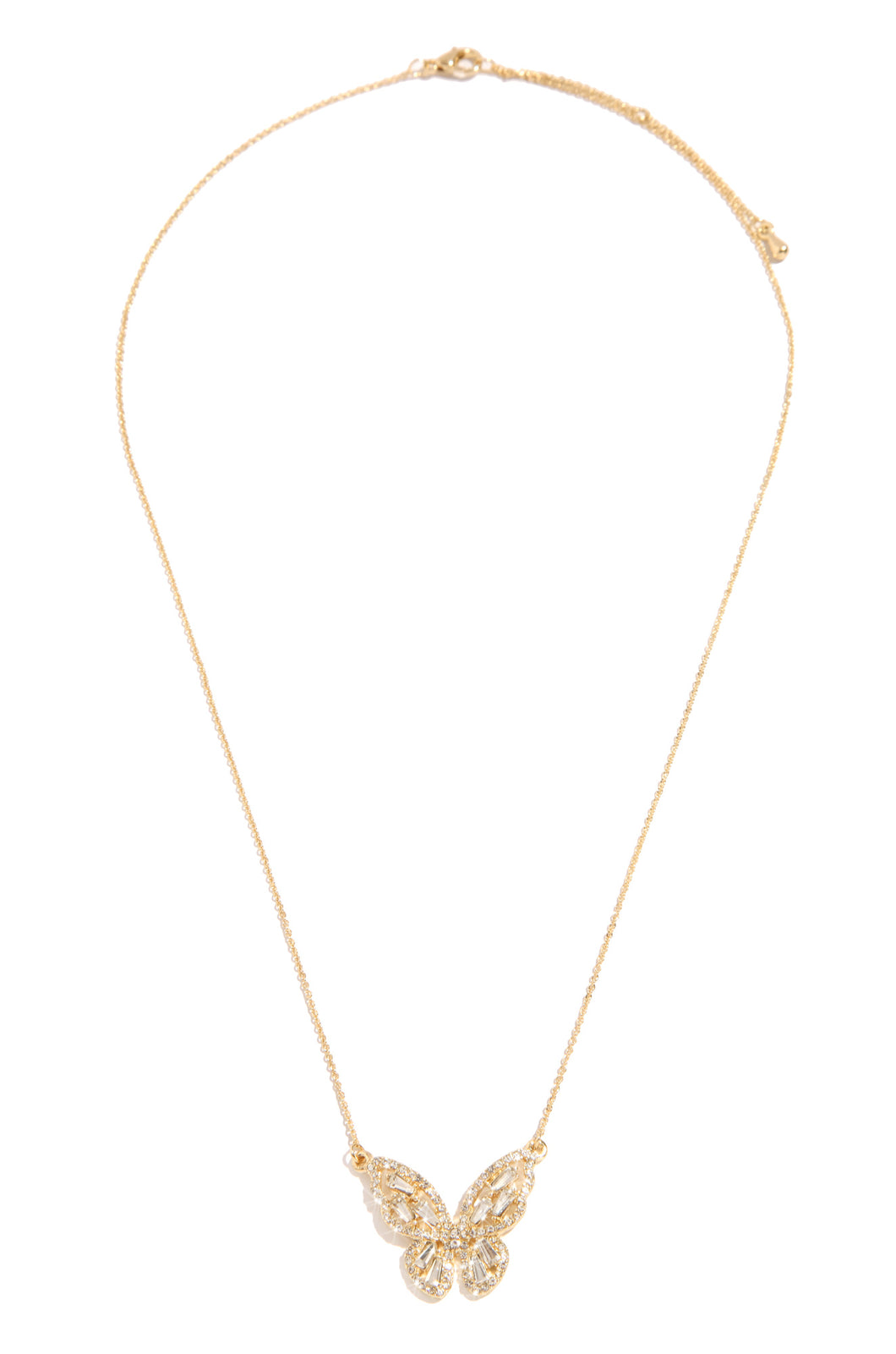 Summertime Fly Necklace - Gold
