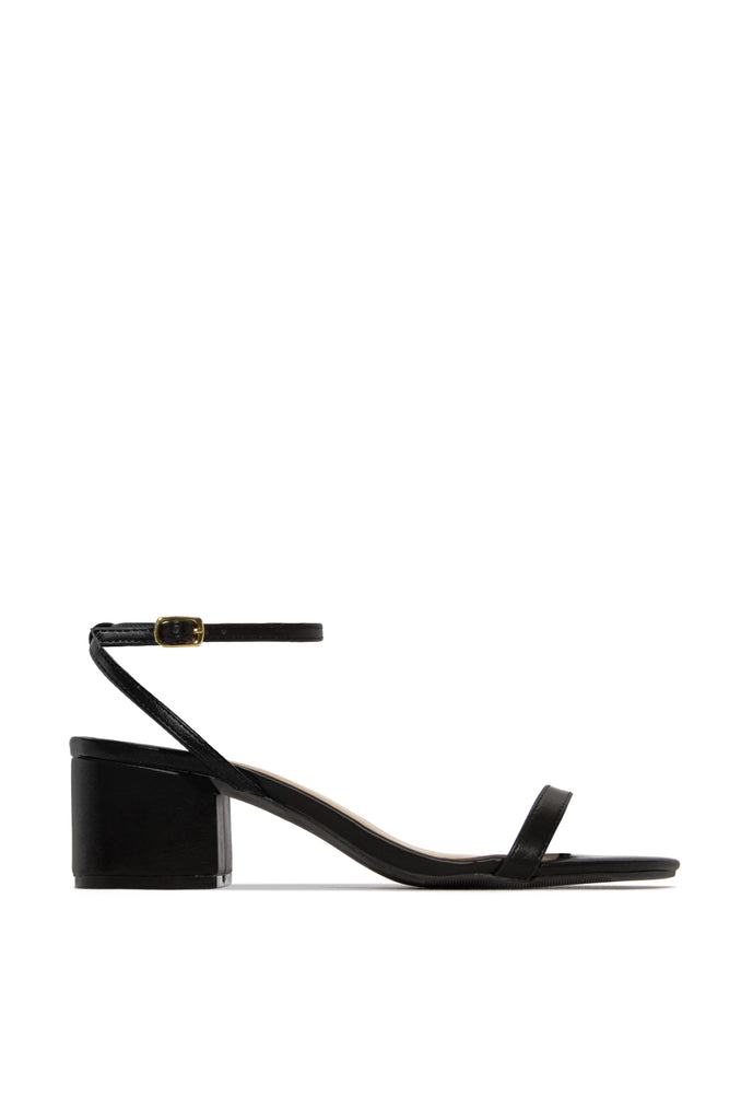 All Sass Mid Heel - Black