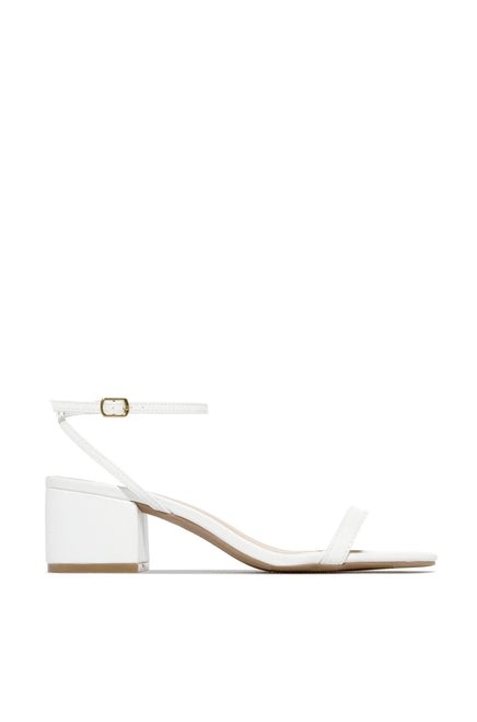 All Sass Mid Heel - White