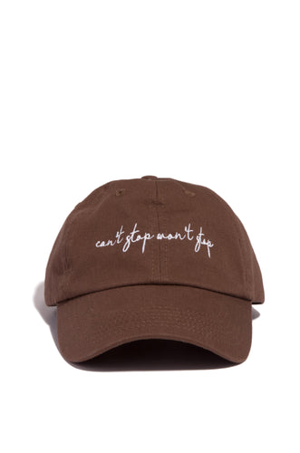 Can't Stop Won't Stop Hat - Mocha
