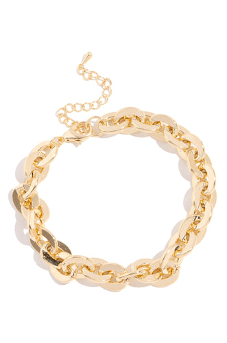 Only Gold Vibes Anklet - Gold