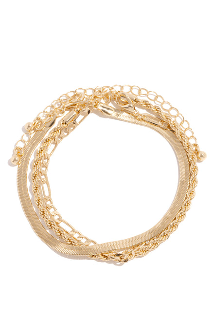 Laura Anklet Set - Gold