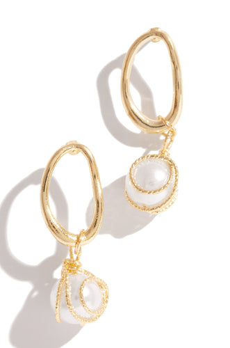Queen Of Gems Earring - Gold