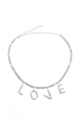 Love Me Necklace - Silver