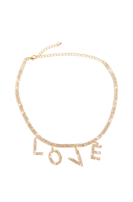 Love Me Necklace - Gold