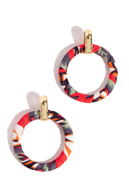 Mimosa Earring - Red Multi