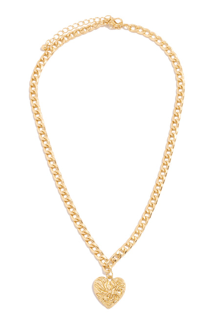 Follow Your Heart Necklace - Gold