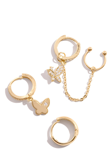 Lucie Earring Set - Gold