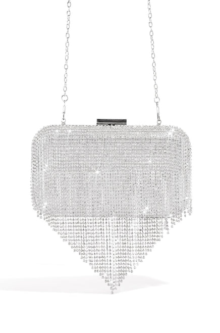 Luxe Life Clutch - Silver