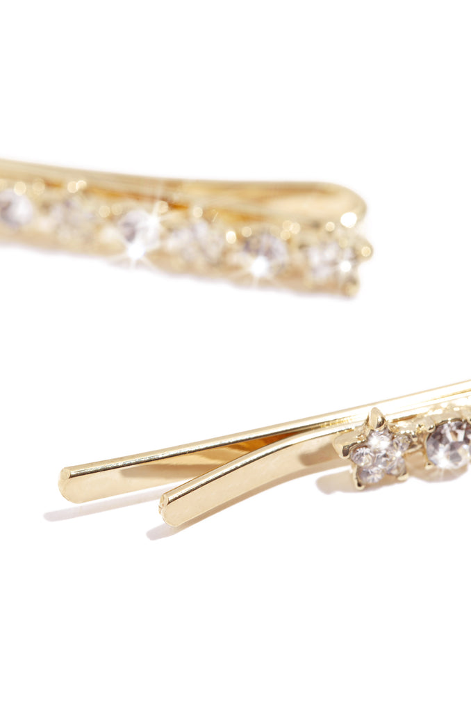 Elaine Hair Clips - Gold