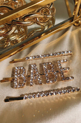 Babe Hair Clips - Gold