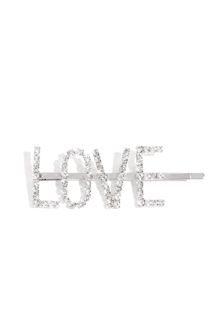 So In Love Hair Clip - Silver