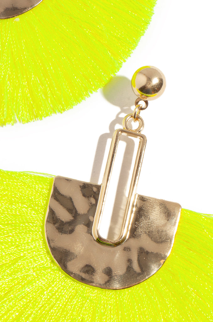 La Modelo Earring - Neon Yellow