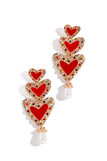 El Amor Earring - Red