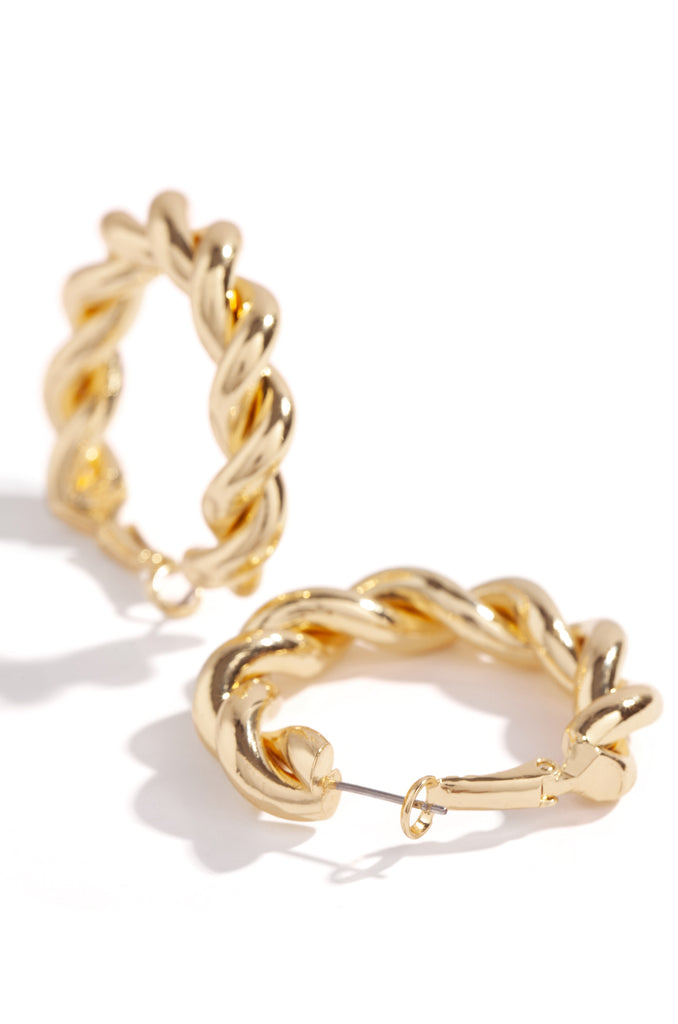 "Brielle Earring - 1.5"" Gold"