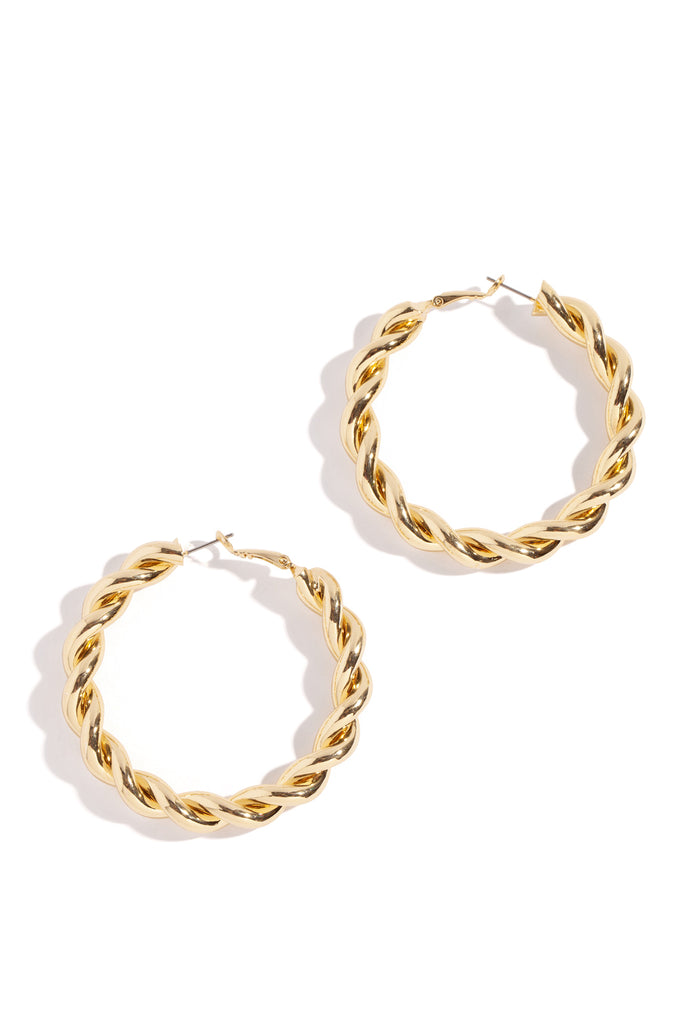 "Brielle Earring - 2.25"" Gold"