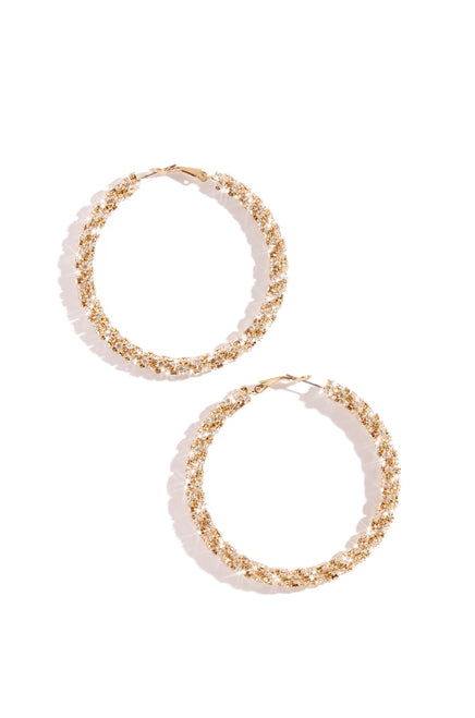 "Explicit Night Earring - 2.5"" Gold"