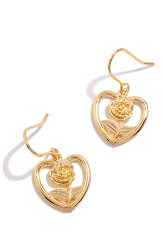 Rose Earring - Gold
