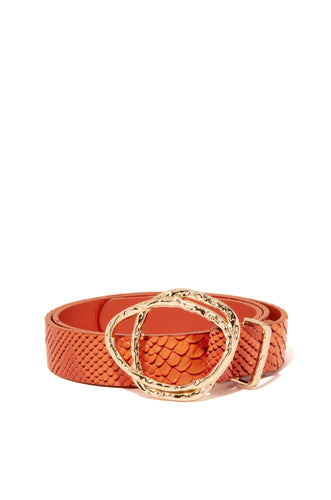 Music In Me Belt - Orange Snake