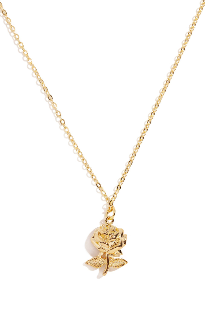 Como La Flor Necklace - Gold