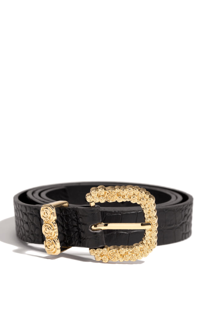 Parisian Rose Belt - Black
