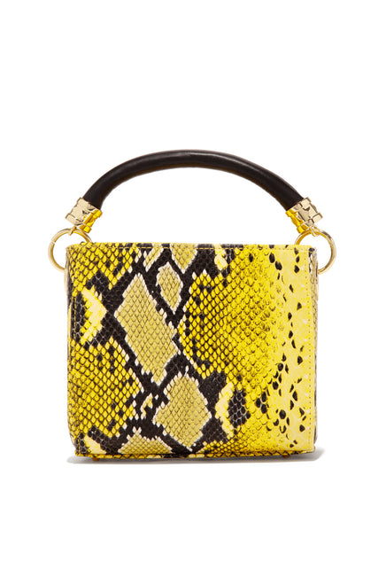 Can You  Handle Crossbody - Yellow Snake